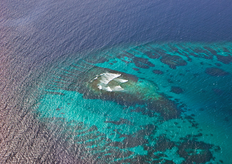 Flying over South Ari Atoll