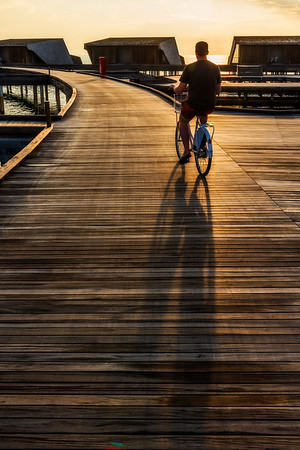 Cycling at St. Regis Maldives.