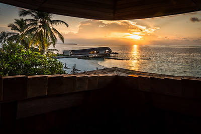 Sunset view from the observation tower at the St. Regis Boutique.