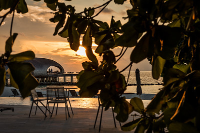 A peek at The Whale Bar at sunset.