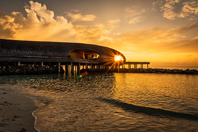 Sunset at St. Regis Maldives.