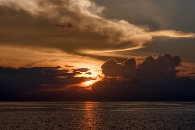 Sunset in Maldives.