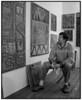 Kunstmaleren Claus Bojesen i sit atelier i København 1993