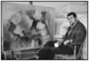 Kunstmaleren Jens Kromann fotograferet i sit atelier på Christianshavn 1993