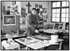 Kunstneren Kai Llinnemann i sit atelier i Store Kongensgade 1988