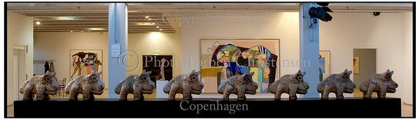 Leif Sylvester udstilling i Greve 2006. Foto: Torben Christensen  København ©