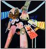 Leif malerier marts 2007. Foto: Torben Christensen  København ©  Leif Sylvester malerier marts 2007