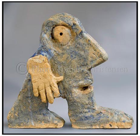Leif Sylvester  Skulpturer i atelieret 2006. Foto: Torben Christensen  København ©