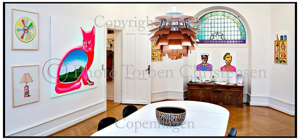 Rasmus' malerier i Galleri Jytte Arnzen oktober 2010 Foto: Torben Christensen  København ©