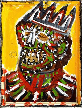 Sonny Asemota malerier 1998Foto: Torben Christensen  København ©