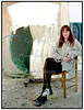 Kunstmaleren Ulla Lehrskov 1998Foto: Torben Christensen  København ©