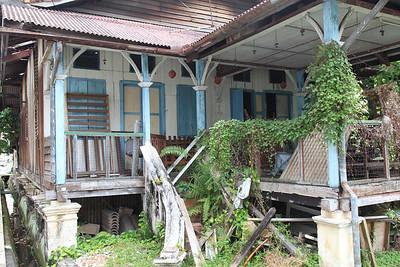 Tradycyjny malezyjski dom (mało już takich, teraz budują nowocześniejsze)