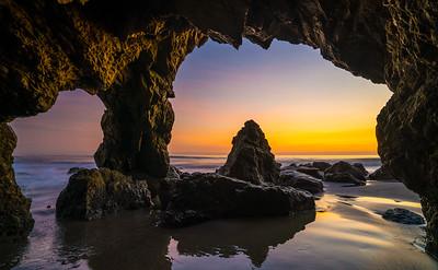 Malibu Fine Art Sea Cave Sunset Seascape!  45Epic Dr. Elliot McGucken Fine Landscape and Nature Photography