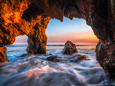 Malibu Majesty: Malibu Sea Caves: El Matador State Beach Fine Art Photography
