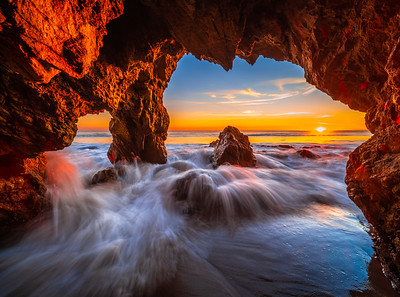 Sea Cave Symphony: Malibu Sea Caves: El Matador State Beach Fine Art Photography
