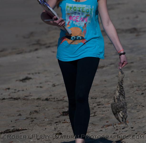 student with dead bird 2012 03-08 Zuma-005