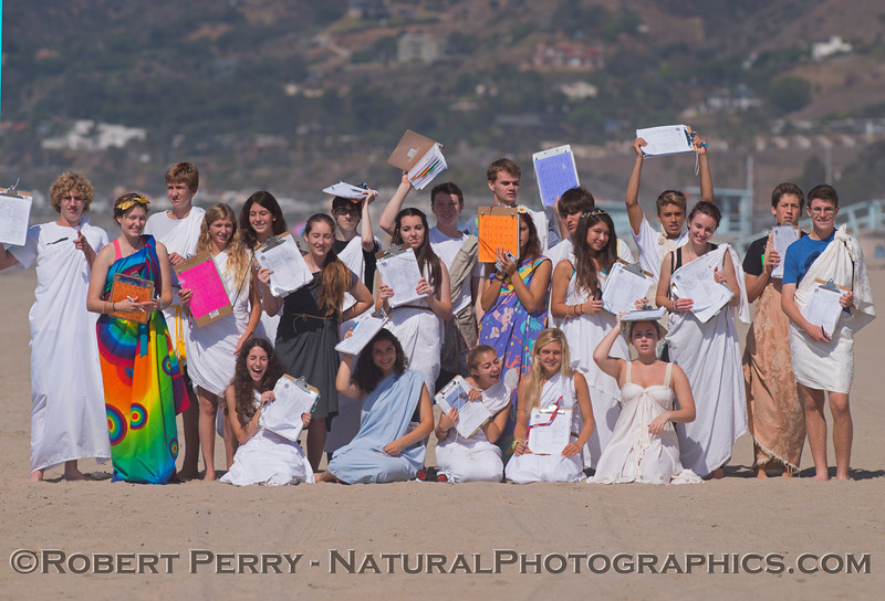 These students were observed ROMAN around the beach.  Chortle.