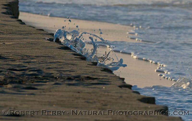 abstract water - king tides high tide berm 2013 01-10 Zuma-016