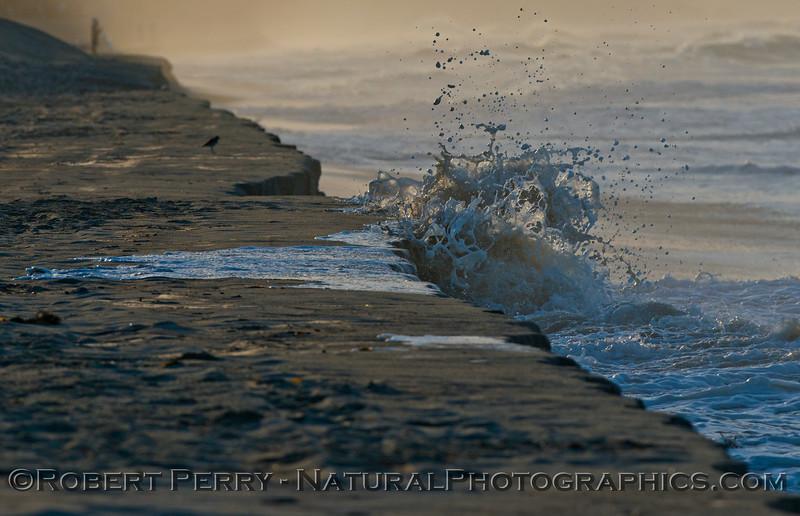 abstract water - king tides high tide berm 2013 01-10 Zuma-033