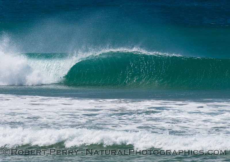 Offshore winds and a Zuma Beach wave.