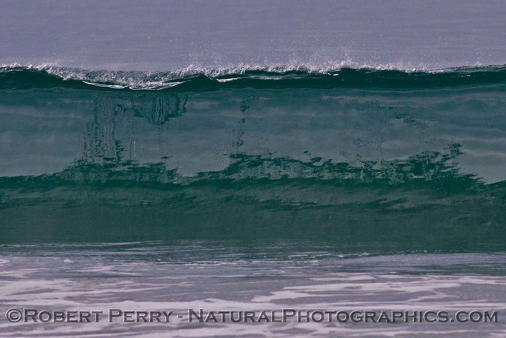 Silver glassy wave.