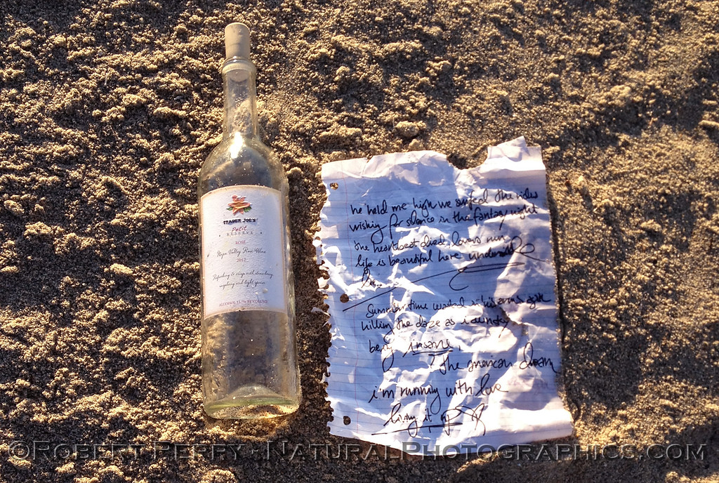 A message inside a bottle was found by student researchers.