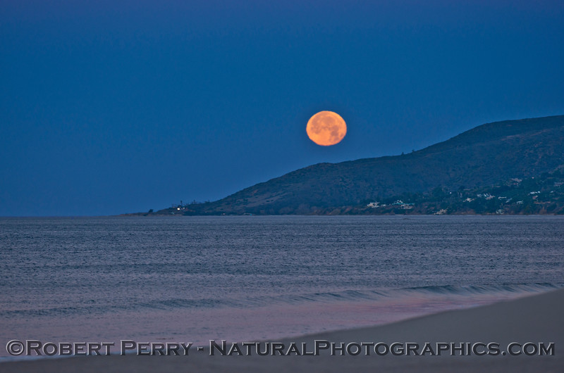 Moon over Malibu - western region.
