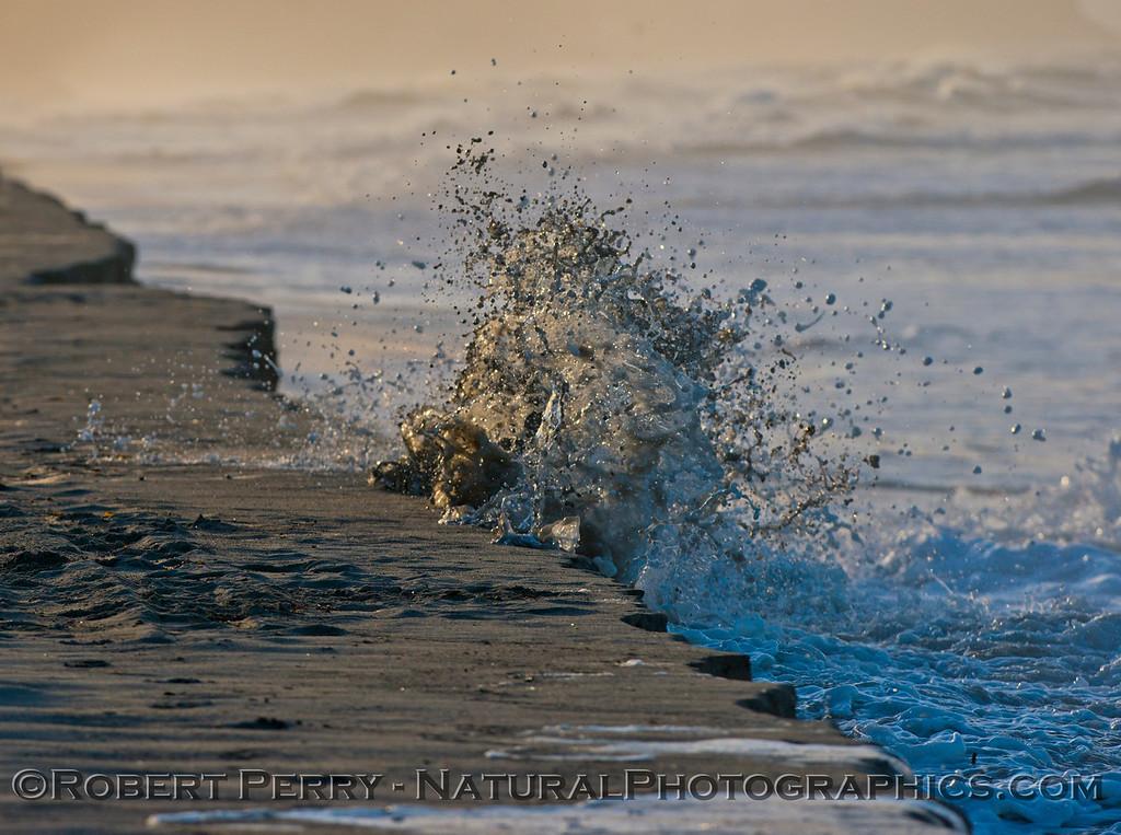 abstract water - king tides high tide berm 2013 01-10 Zuma-028