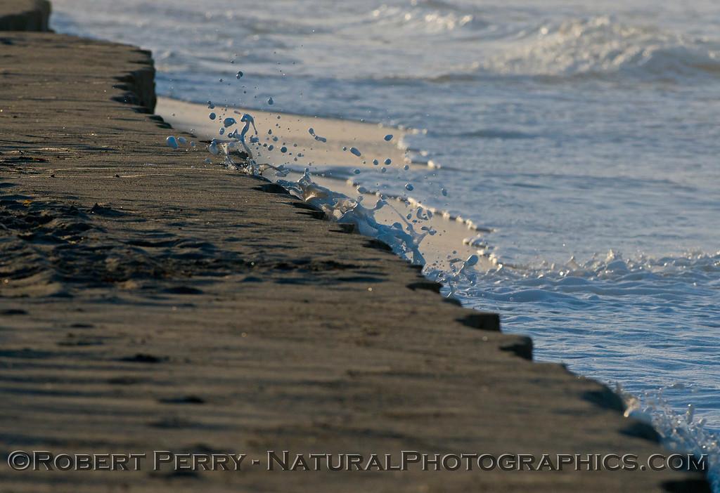 abstract water - king tides high tide berm 2013 01-10 Zuma-017