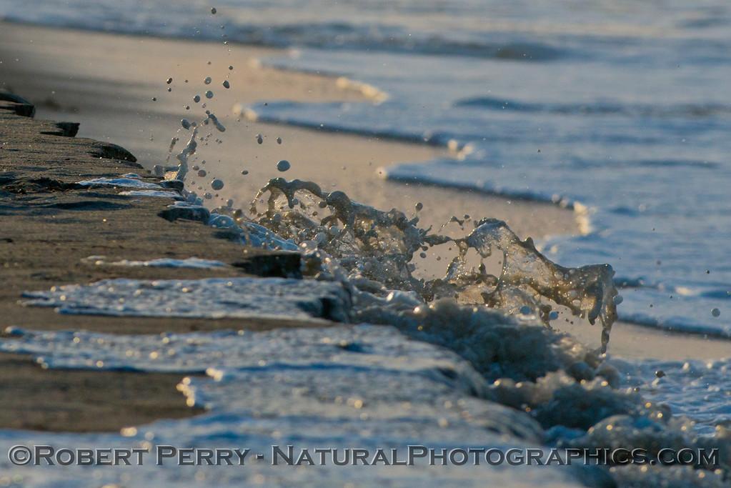 abstract water - king tides high tide berm 2013 01-10 Zuma-025