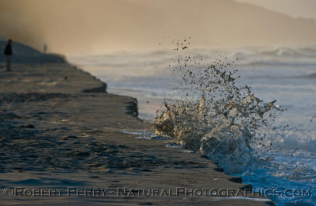 abstract water - king tides high tide berm 2013 01-10 Zuma-029