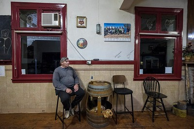 Sunday night in the local pub, town of Rainbow, Victoria, Mallee region.