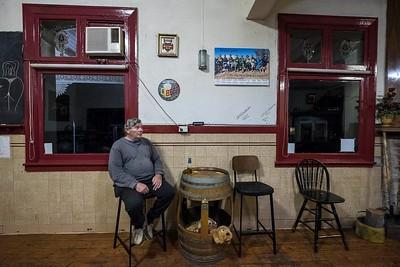 Sunday night in the local pub, town of Rainbow, Victoria, Mallee region.