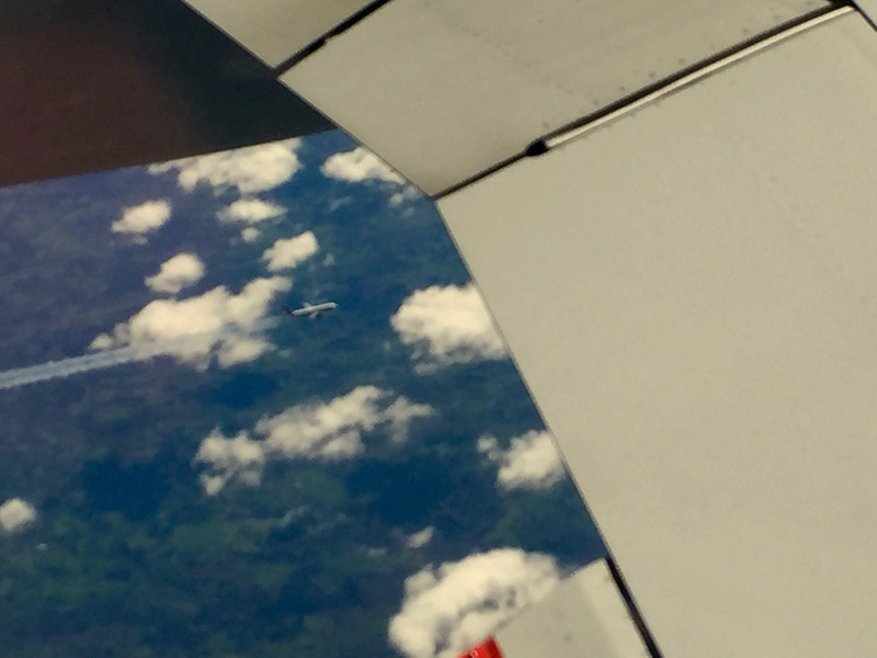 On the flight out to Mallorca I noticed we had the company of another jet below us