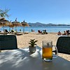 Light refreshment at beach bar