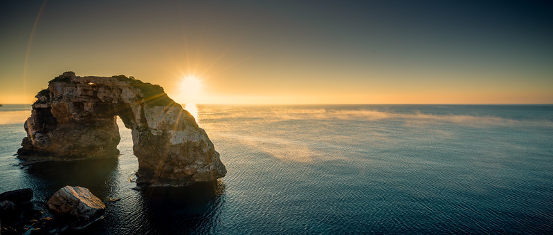 After sunrise over Es Pontas, Mallorca