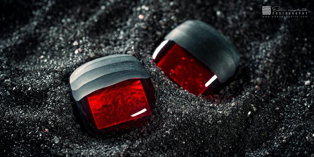 Dragon red earrings