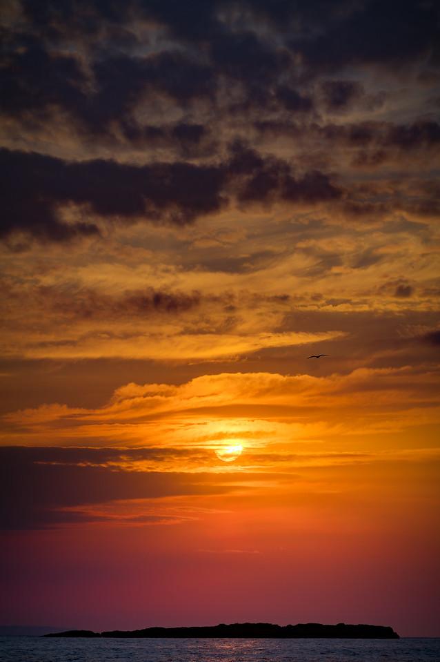Sunrise over illot del Sec