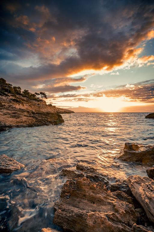 Sunrise at Mallorca beach called Cala Falcó