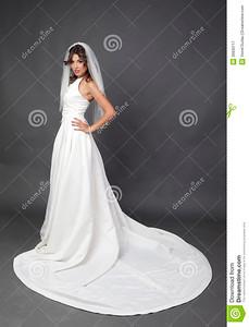 //www.dreamstime.com/royalty-free-stock-photography-wedding-bridal-portrait-full-body-bride-white-dress-studio-grey-background-image30930717