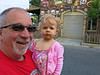 Dad and Mallory in Radiator Springs