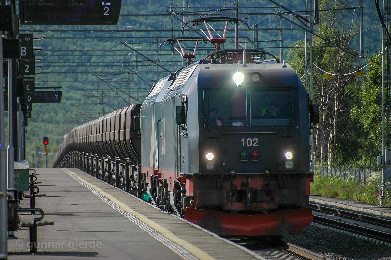 LKAB Iore with F050s bound for Kiruna at new Abisko east st 2015-07-19  17:41. Photo: Gunnar Gjerde