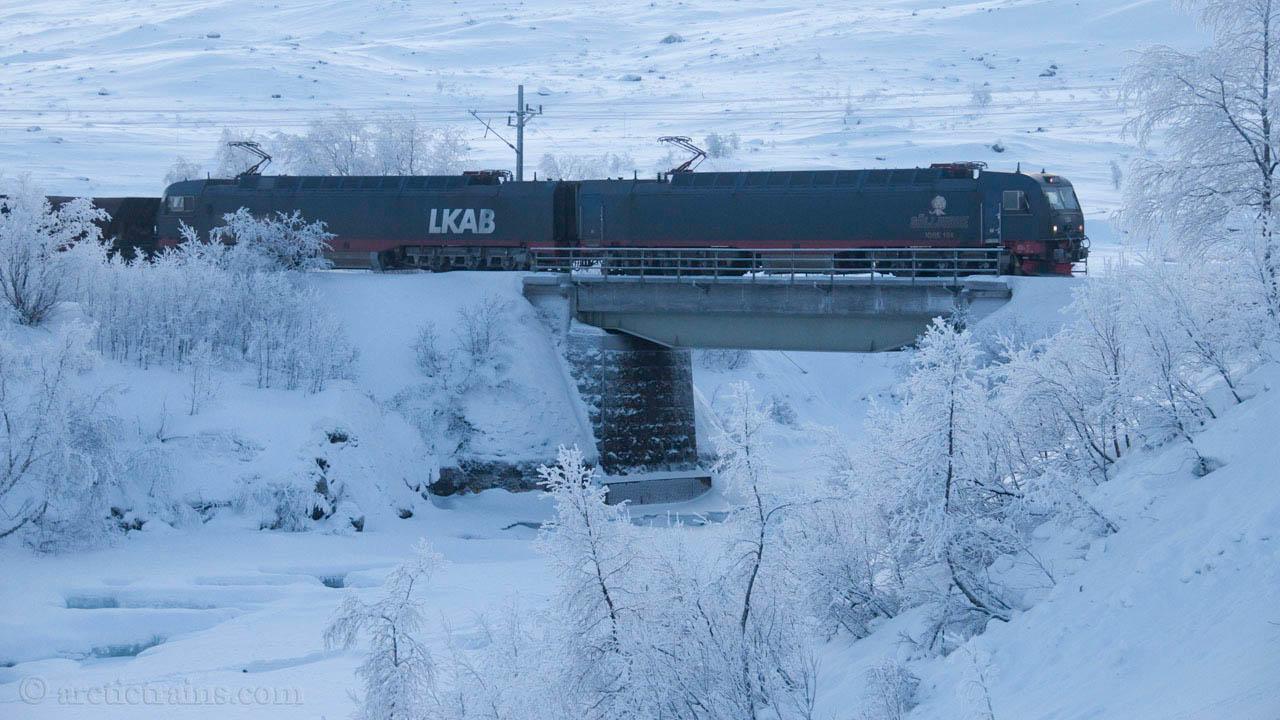 LKAB Iore 102 Vassijaure 104 Gällivare Uad Katterjaakka hp -18C 2010-01-25 by TS
