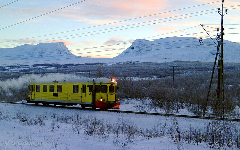 BV Y6 Abisko west st. Maintenance crew car 2002-01-23 by TS