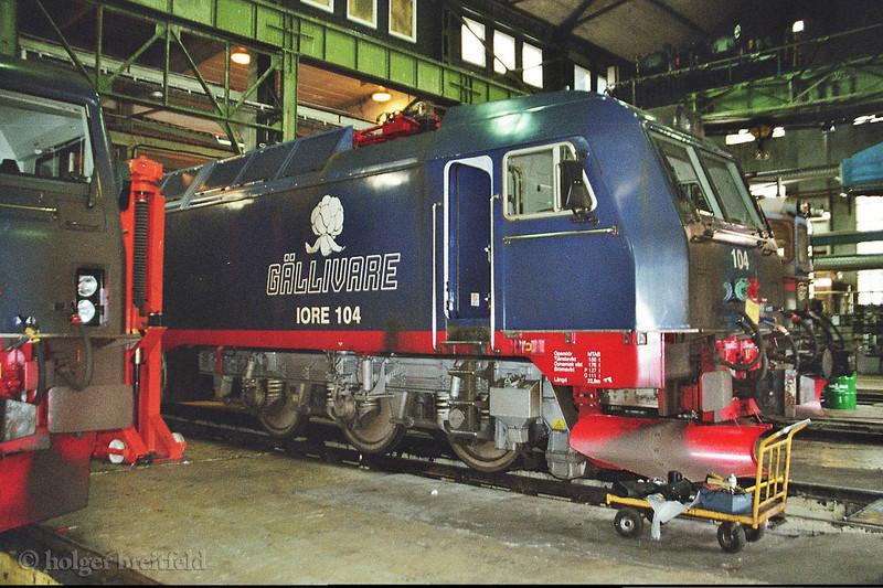 LKAB Iore 104 Kiruna depot 2006-06-27 by Holger Breitfeld