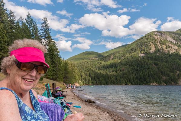 2016 Camping with Mom at Sullivan Lake, Box Canyon Dam Railroad Trip