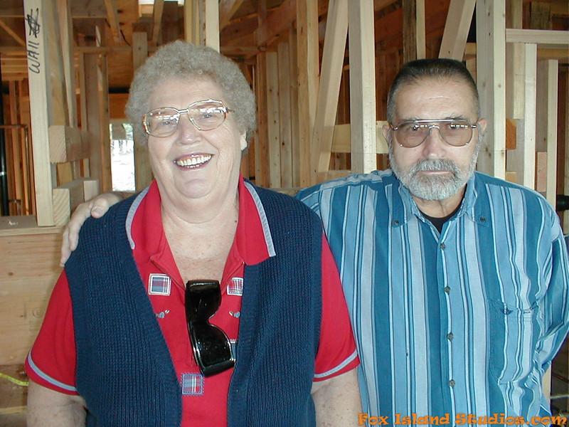 Mom Dad visit Fox Island Home Construction-5