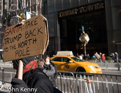 Outside Trump Tower 12/9/16
