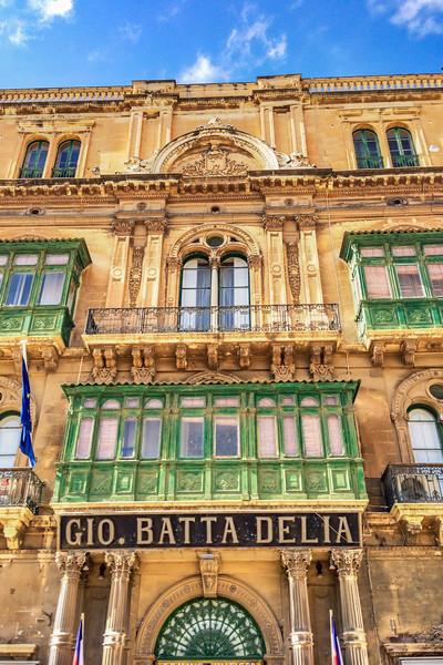 Colorful windows in Malta