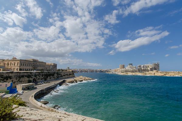 The walled city of Valletta, Malta